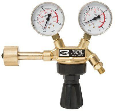 Flaschendruckminderer Wasserstoff Manometer 300bar / 10bar / 3/8L