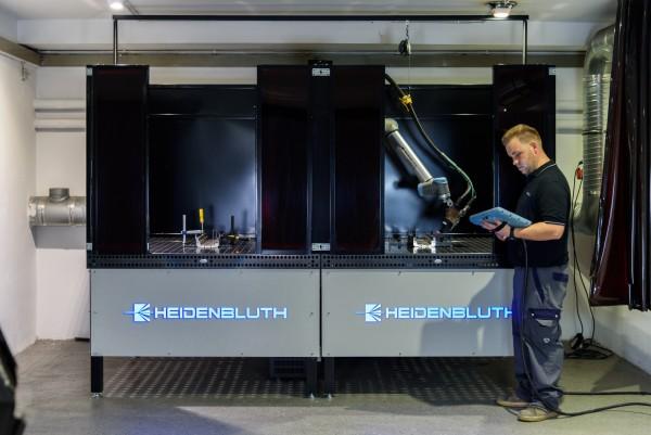 Heidenbluth Big Arc Roboterschweißanlage mit 2 Schweißstationen für MIG/MAG und WIG Schweißverfahren