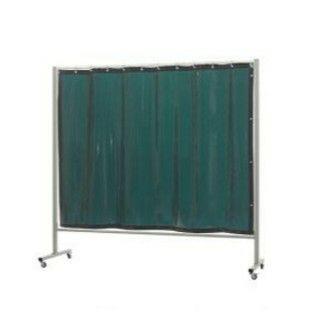 Fahrbahre Stellwand Omnium mit Green-6 Vorhang