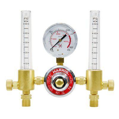 Druckminderer Argon mit zweifachem Flowmeter 300 bar / 30 L / 1/4R
