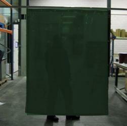 Cepro Green-9 Schw.Vorhang 160x140cm