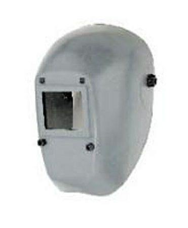 Schweißer-Kopfschutzhaube schwarz aus Kunstoff mit Glasfasergewebe