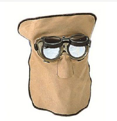 Ledermaske für runde Gläser nacken- und kopf frei