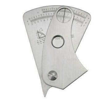 Schweißnahtlehre mit Nonius und Ablesefenster -/-0,1 mm