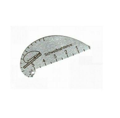 Schablonenschweißnahtlehre aus Aluminiumblech 3-12mm