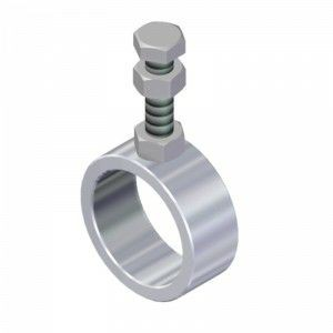 Rohrhalter für Rohr Ø33,7 mm höhenverstellbar