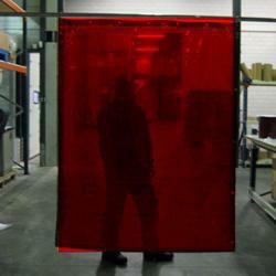 Cepro Orange-CE Schw.Vorhang 200x140cm