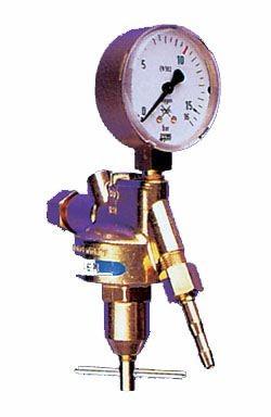 """Entnahmestellen-Druckminderer Acetylen Manometer 0-1,5bar / G3/8""""LH"""