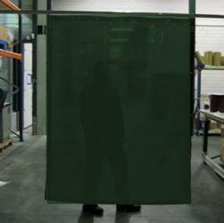 Cepro Green-9 Schw.Vorhang 200x140cm
