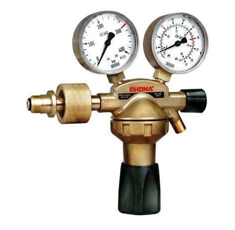 "Druckminderer Stickstoff Manometer 200bar / 30-40bar / 1/4"""