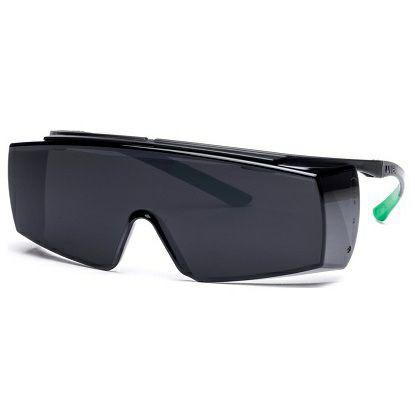UVEX Überbrille super f OTG schwarz, grün DIN 5