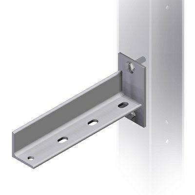 Schwere Montagestütze für max. 3-faches Schienen- oder Rohrsystem