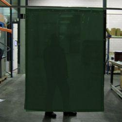 Cepro Green-9 Schw.Vorhang 180x140cm