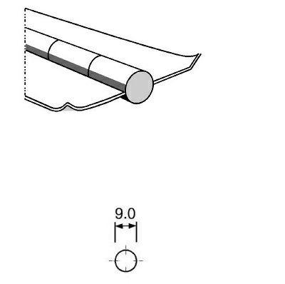 Keram. Badsicherung PZ 1500/56 Ø 9mm auf Aluband 500mm