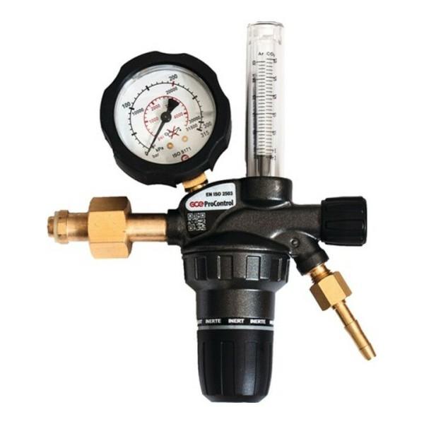 "Druckminderer Stickstoff Flowmeter 200bar / 30l/min / 1/4"""