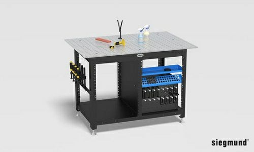 S 4 Workstation inklusive Zubehör wie Schubladen und Werkzeuge 1200x800x12mm