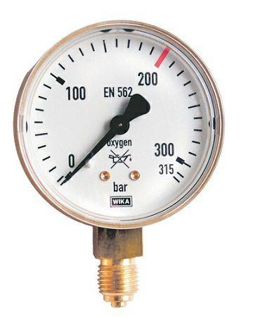 Inhaltsmanometer Sauerstoff 0-200/ 315 bar