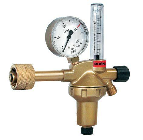 "Druckminderer Formiergas Flowmeter 200bar / 50l/min / 3/8""l.h."