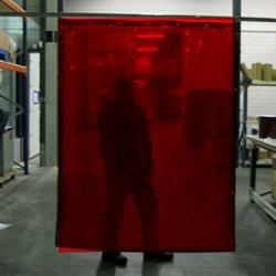 Cepro Orange-CE Schw.Vorhang 160x140cm