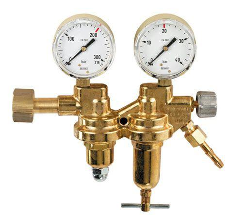 Druckminderer Sauerstoff Manometer 2-stufig 200bar / 0-10bar