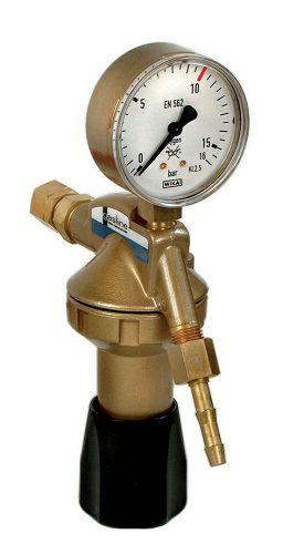 Entnahmestellen-Druckminderer Formiergas Manometer 50 l/min Uhr