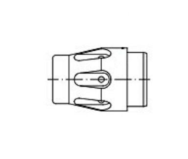 Gasdüseneinsatz Typ 303 DIX 2-2 weiß