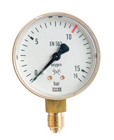 Inhaltsmanometer für Acetylen 0-25/ 40 bar