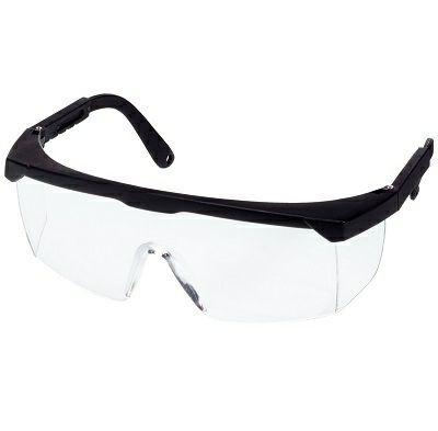 Schutzbrille Modell 659/2 schwarz, farblos PC 2 mm kratzfest - antifog